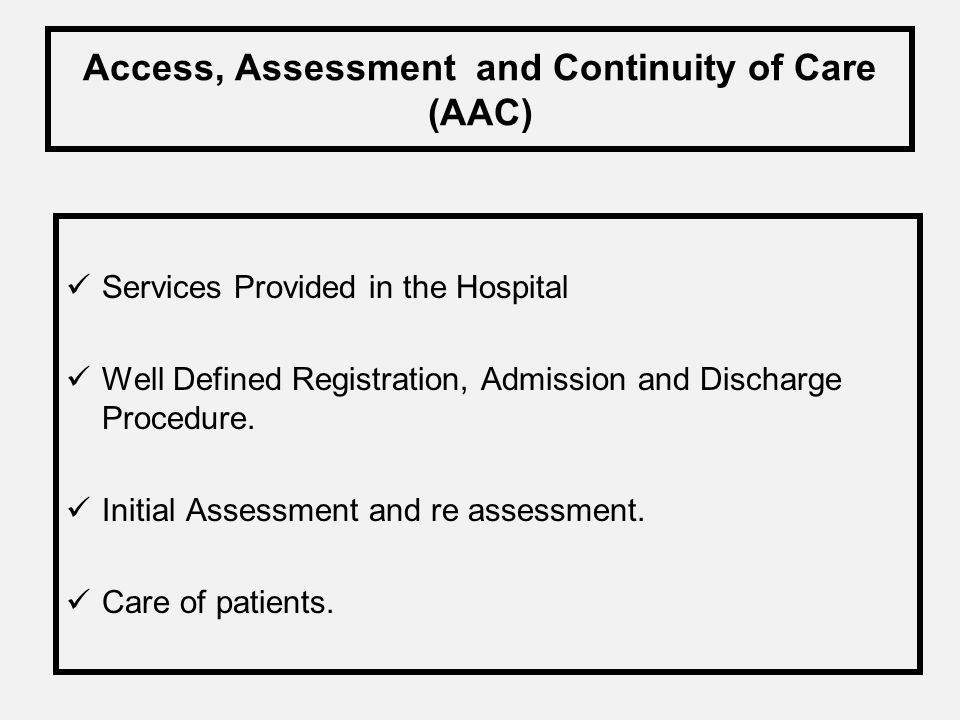 NABH Application has to be submitted to the Quality Council of India Pre assessment dates will be announced by the NABH Secretariat. Pre assessment li