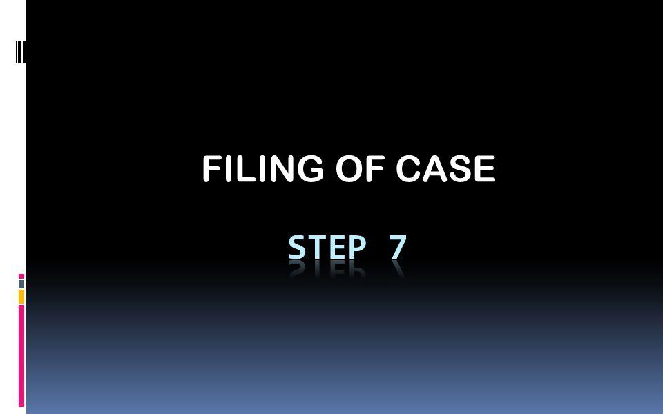 FILING OF CASE