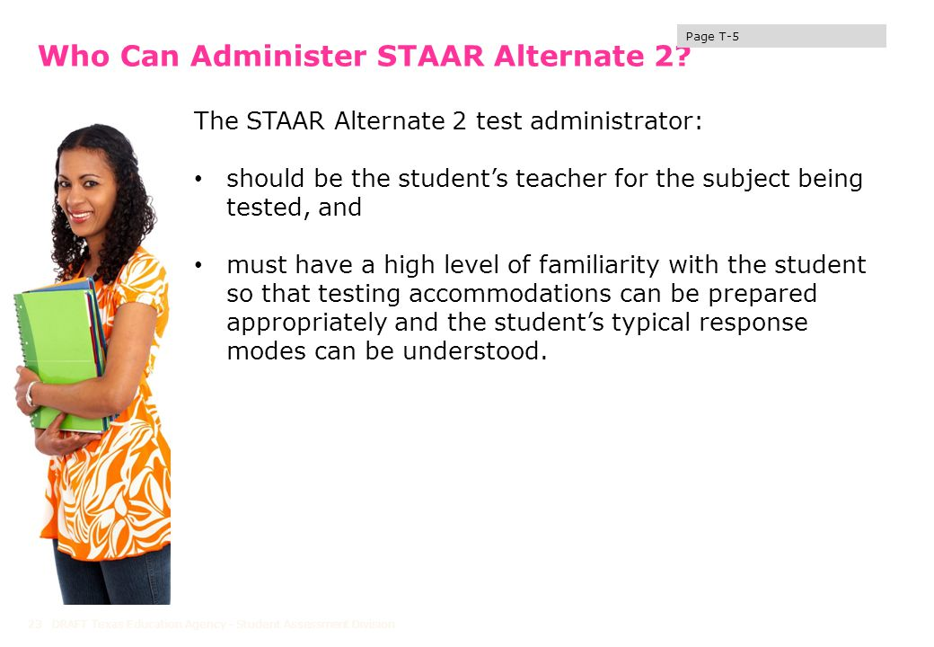 Who Can Administer STAAR Alternate 2.