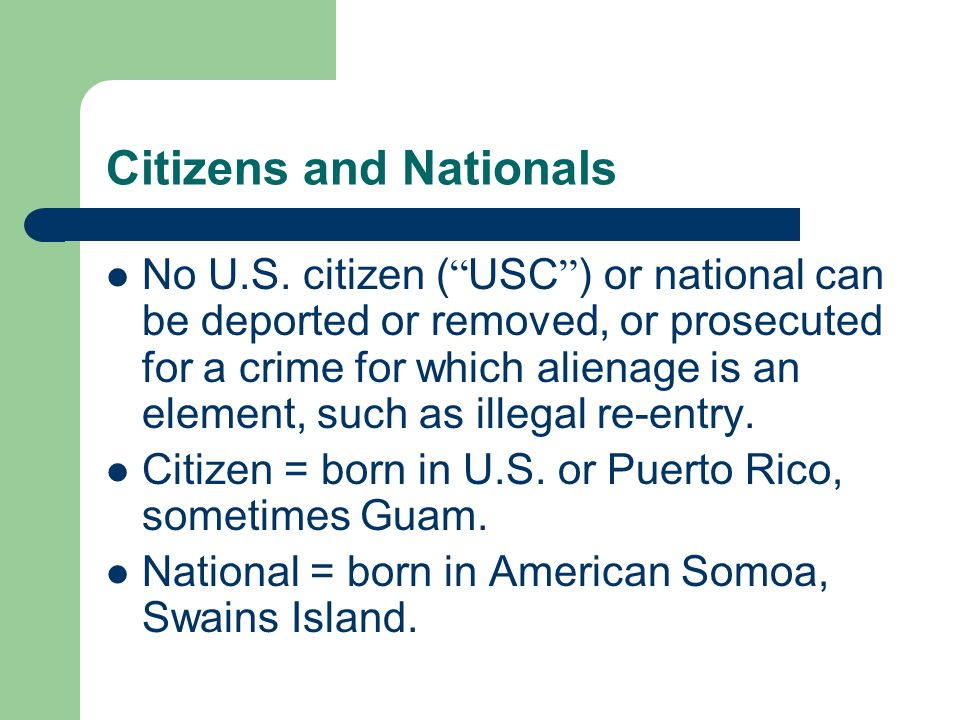 Citizens and Nationals No U.S.
