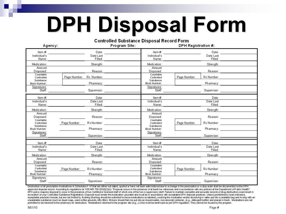DPH Disposal Form