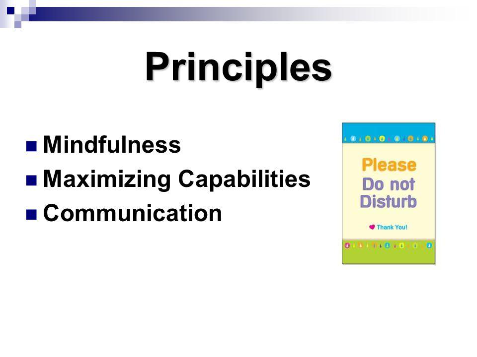 Principles Mindfulness Maximizing Capabilities Communication