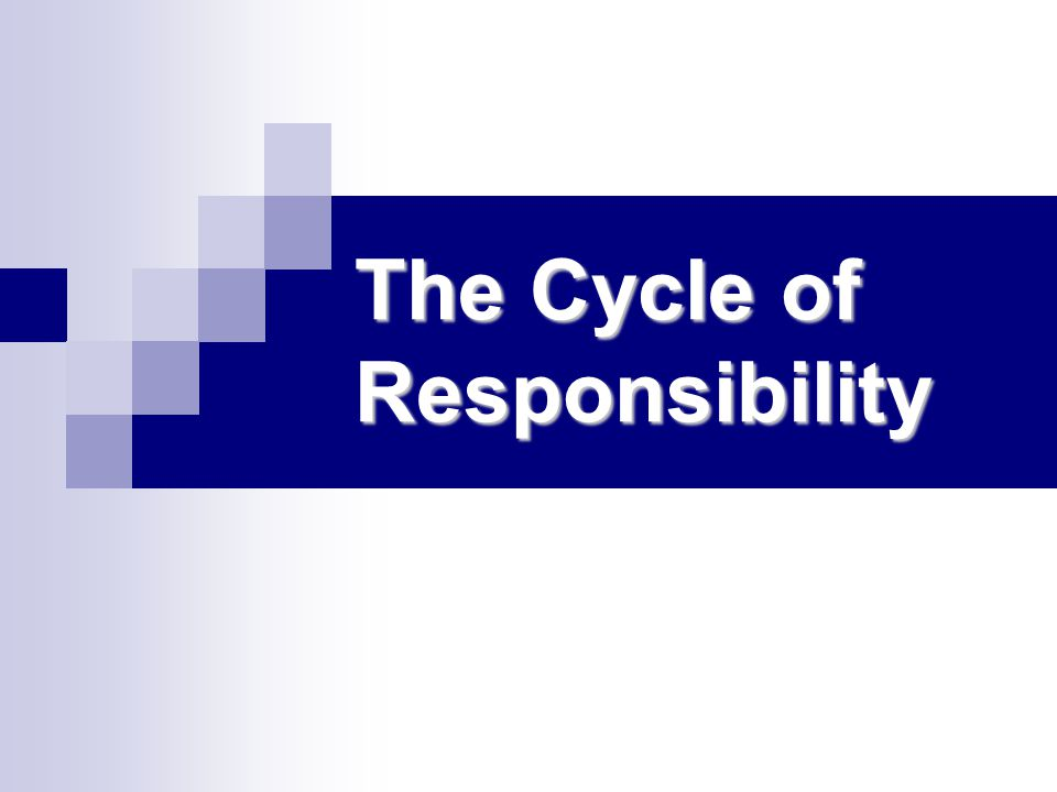 The Cycle of Responsibility