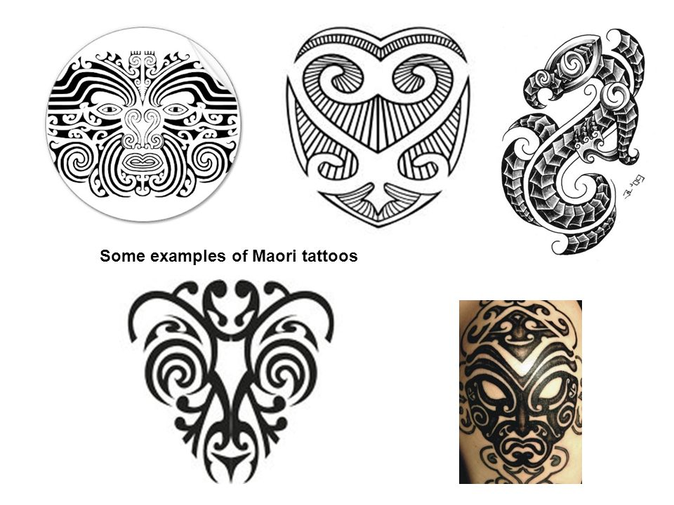 Some examples of Maori tattoos