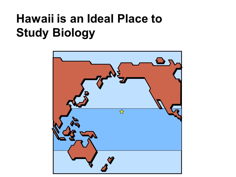 Hawaii is an Ideal Place to Study Biology