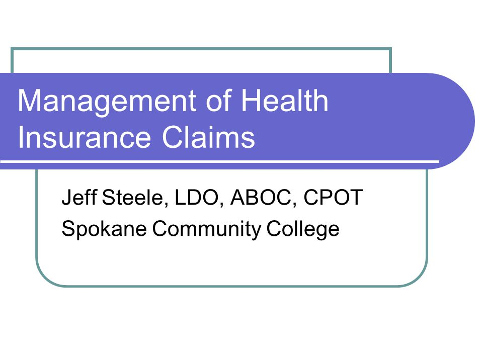 Claim Steps Before the patient's first visit, ask about insurance.
