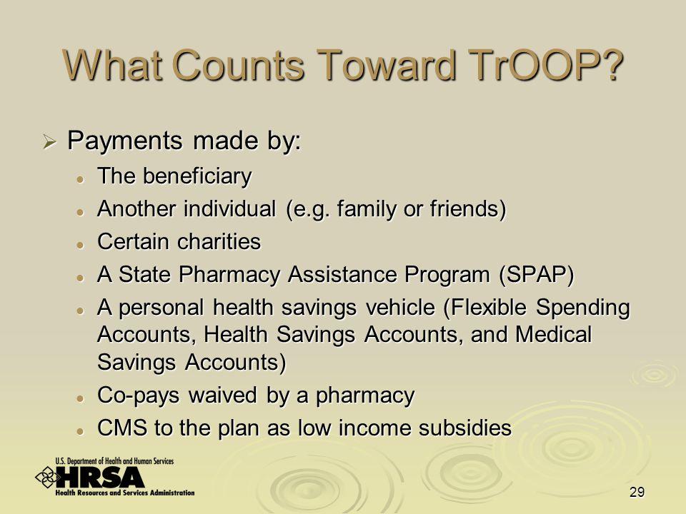 29 What Counts Toward TrOOP.