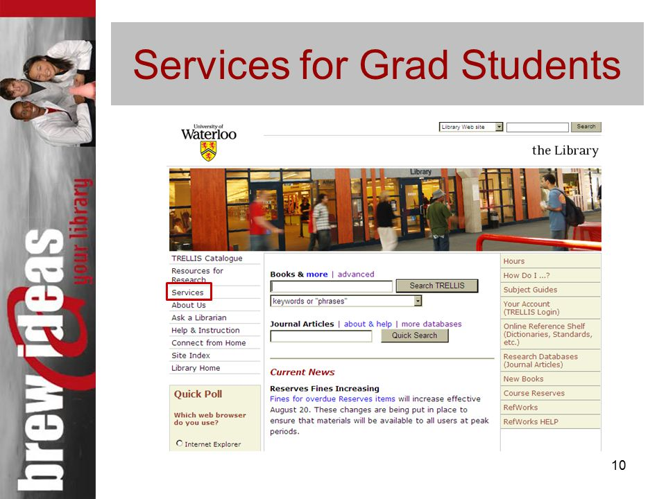 10 Services for Grad Students