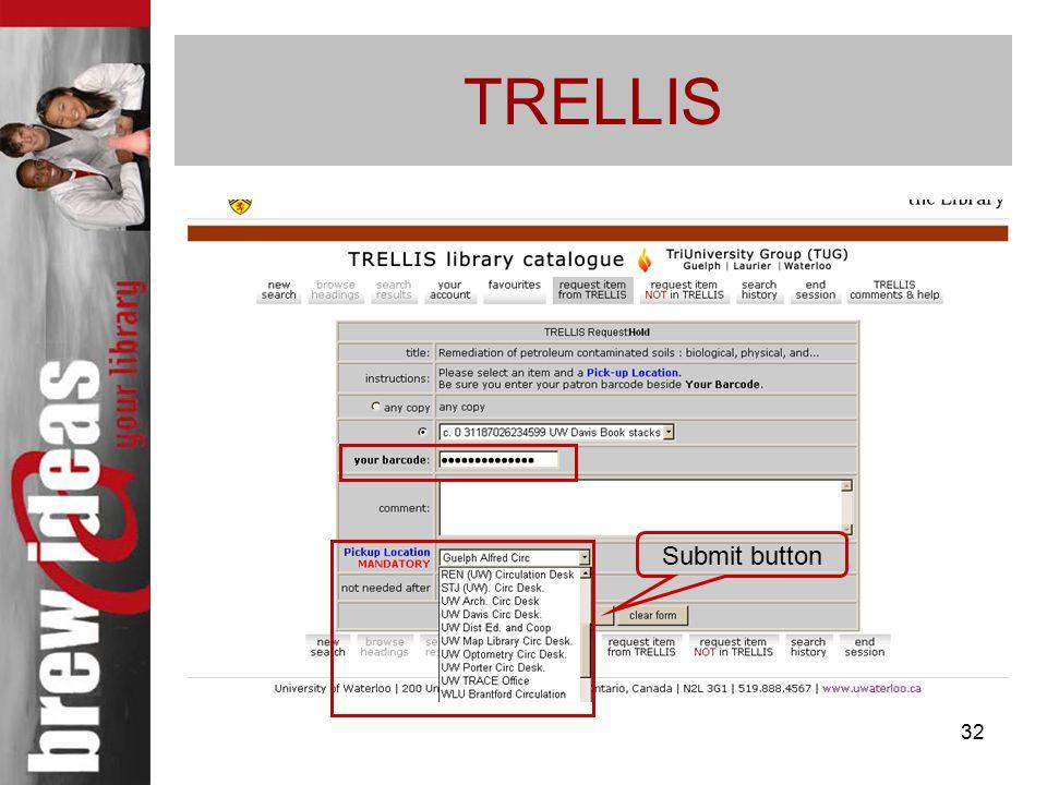 32 TRELLIS Submit button