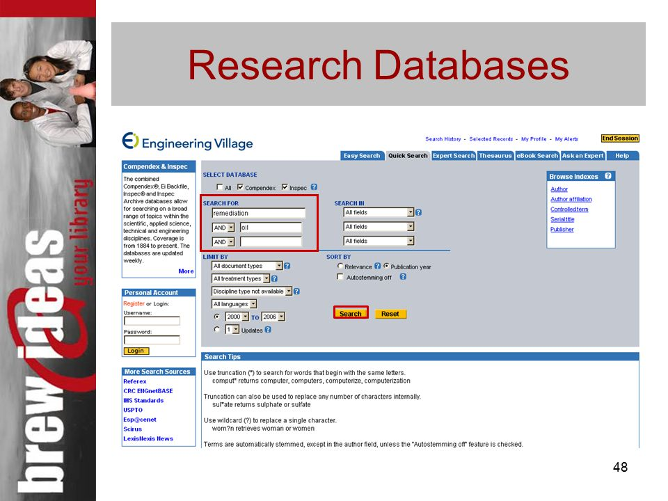 48 Research Databases