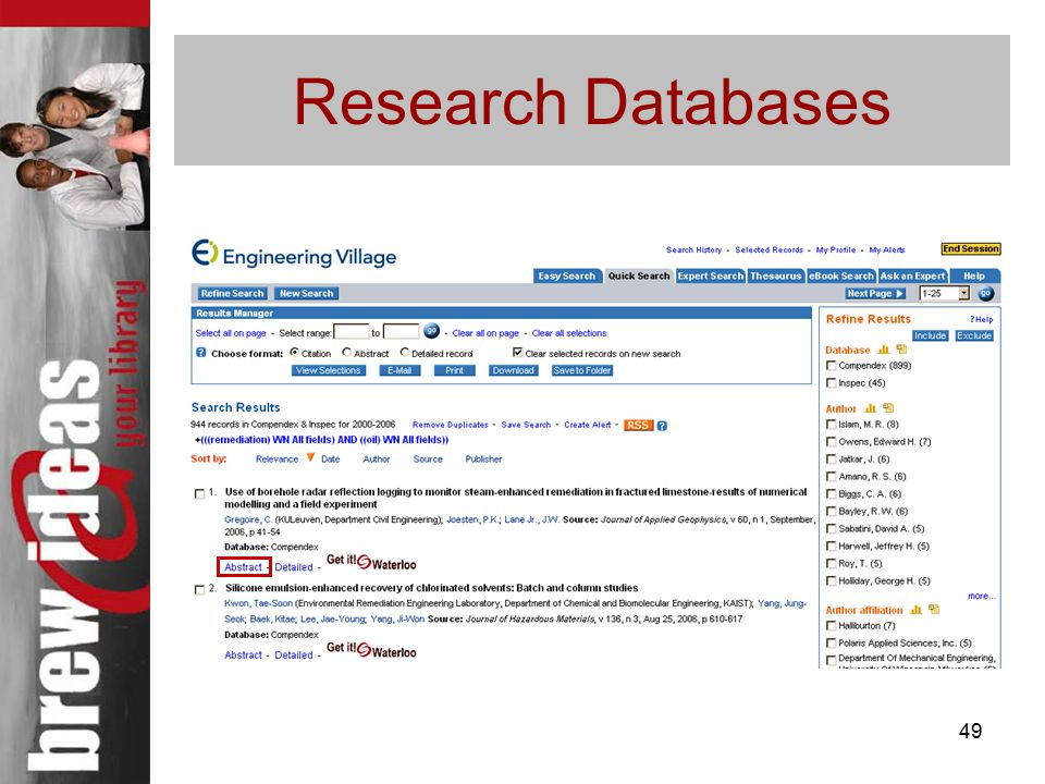 49 Research Databases