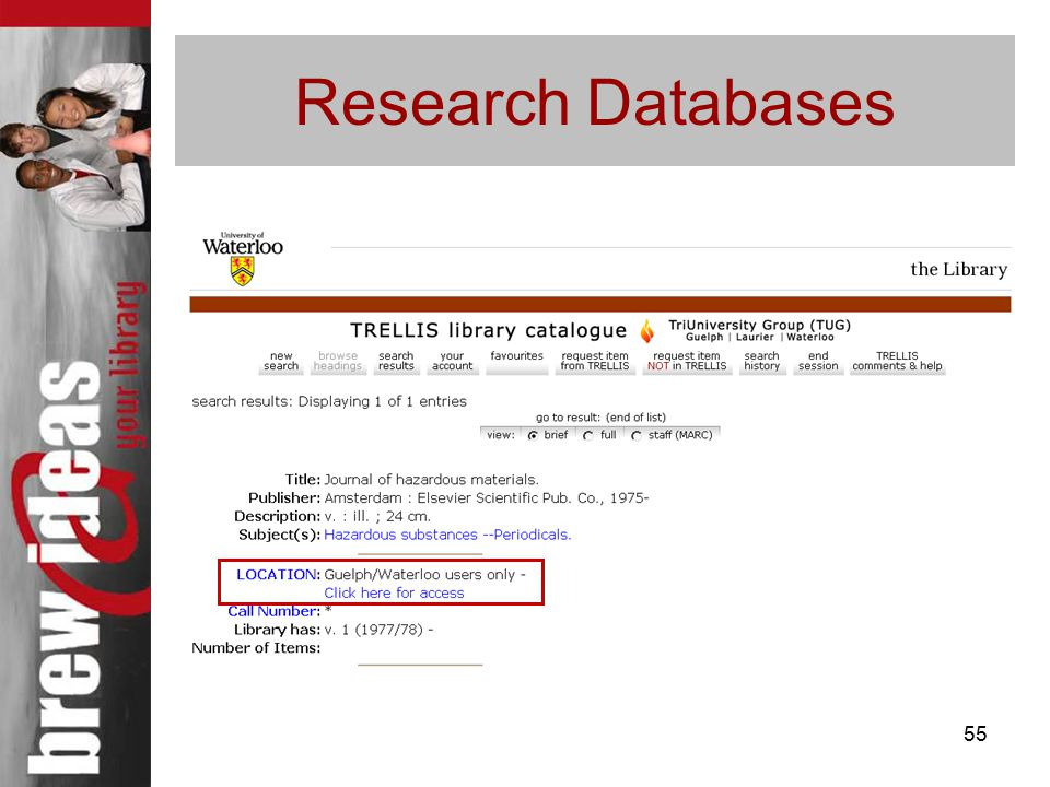 55 Research Databases