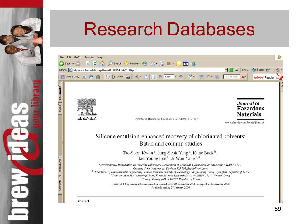 59 Research Databases