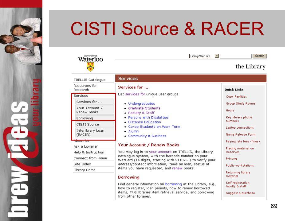 69 CISTI Source & RACER