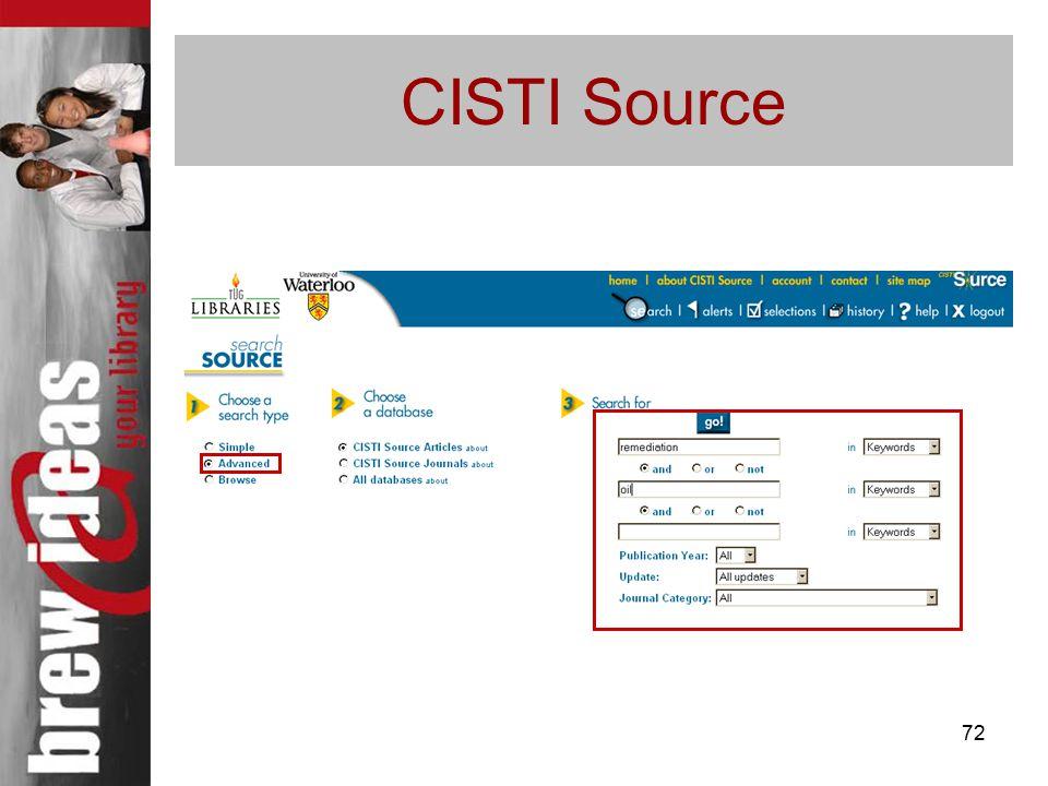 72 CISTI Source