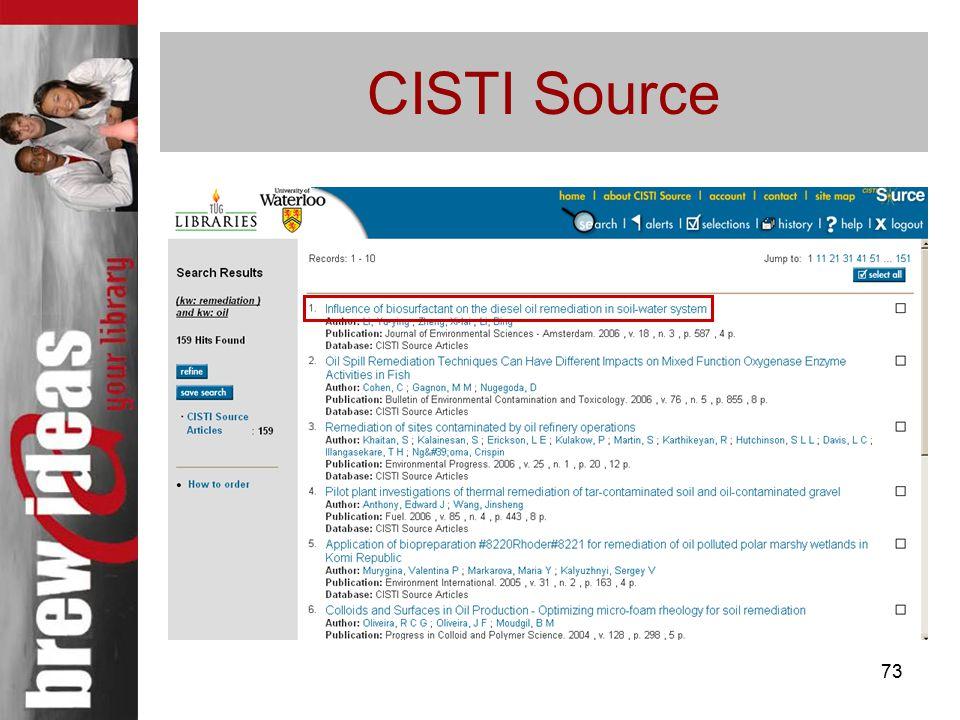 73 CISTI Source