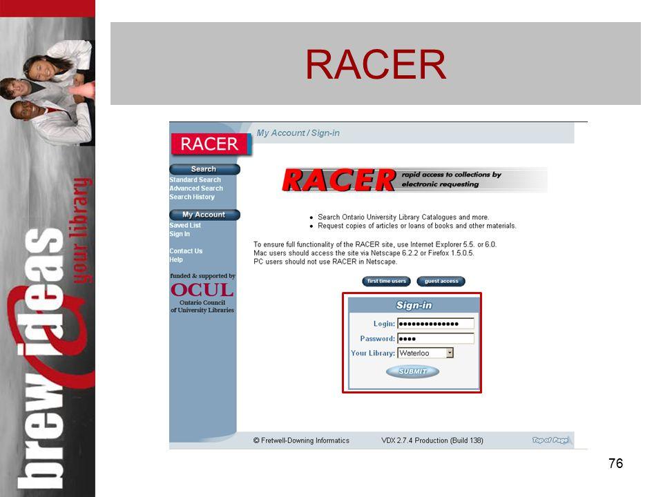 76 RACER