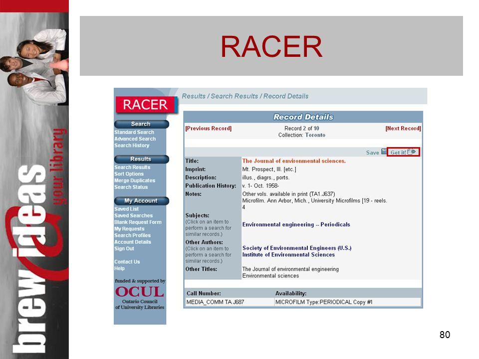 80 RACER