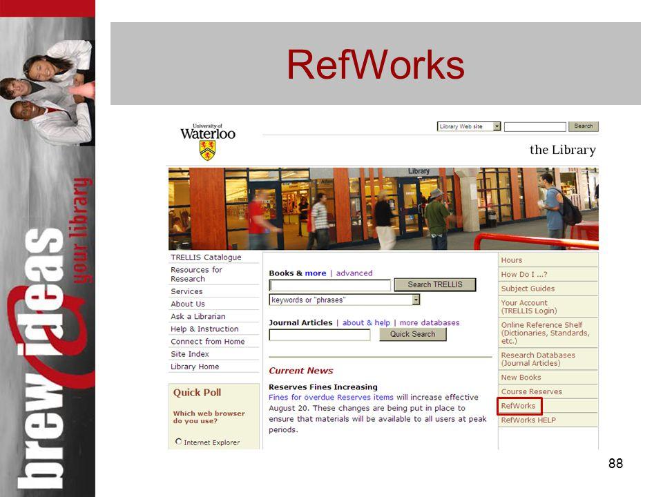 88 RefWorks
