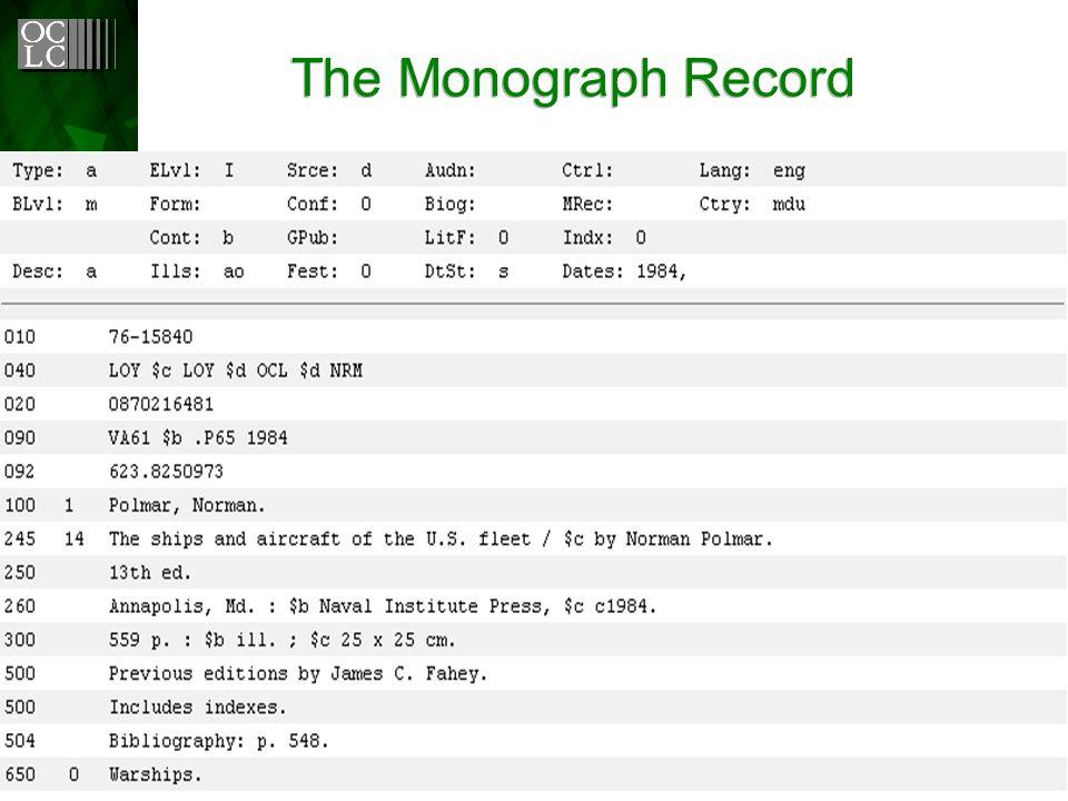 The Monograph Record