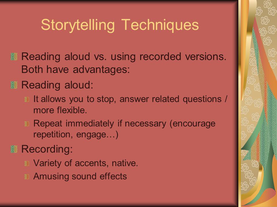 Story-based lessons Identify linguistic objectives.