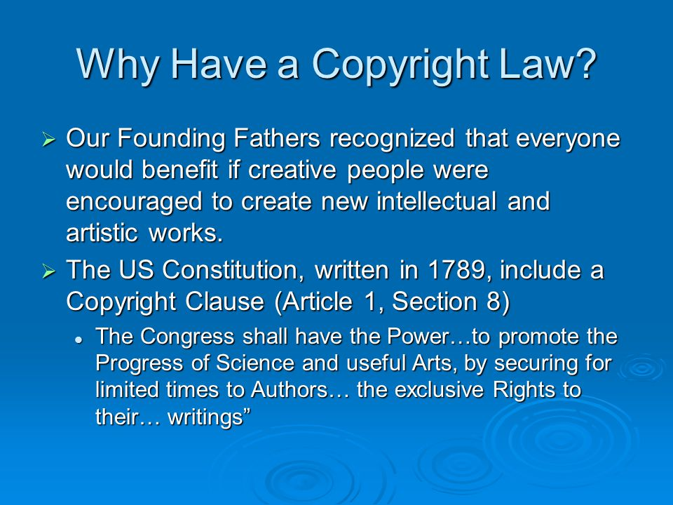 Copyright Infringement  Infringement occurs when a person other than the copyright owner exploits one or more of the owner's exclusive rights without permission  This is also called copyright piracy