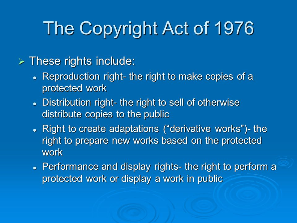 Limitations on Copyright  Ideas and facts are not protected Copyright only protects the words with which an author expressed facts and ideas; it does not protect the facts or ideas themselves.