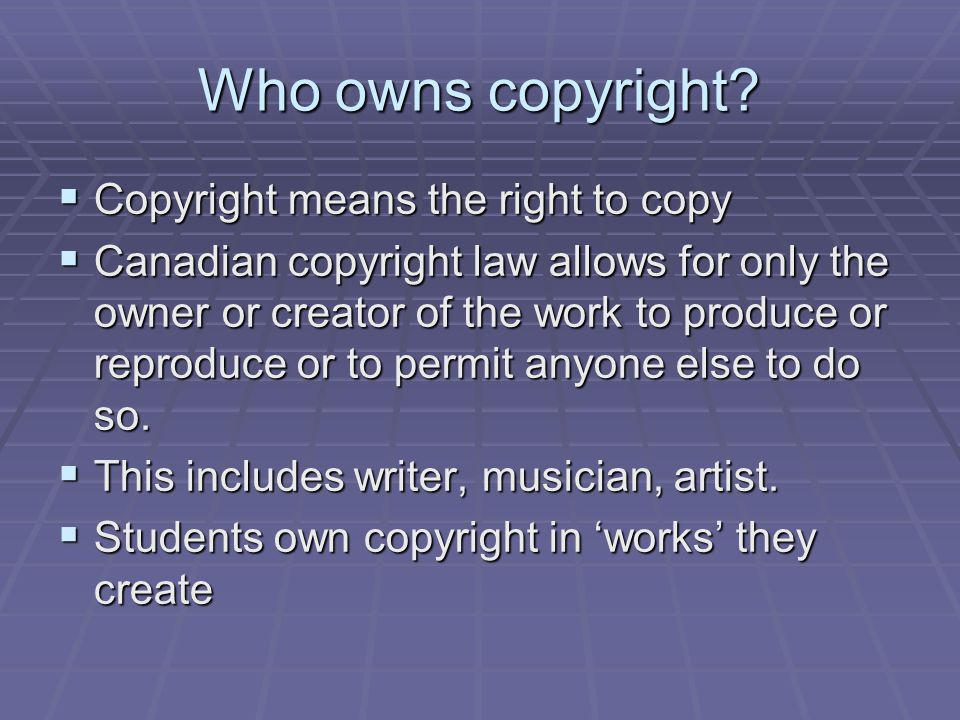 Coles' Notes Version of Copyright And What is really means to Educators The Golden Rule If permission is not given whether it is on a written resource and/or Internet web site, then do not print it or photocopy.