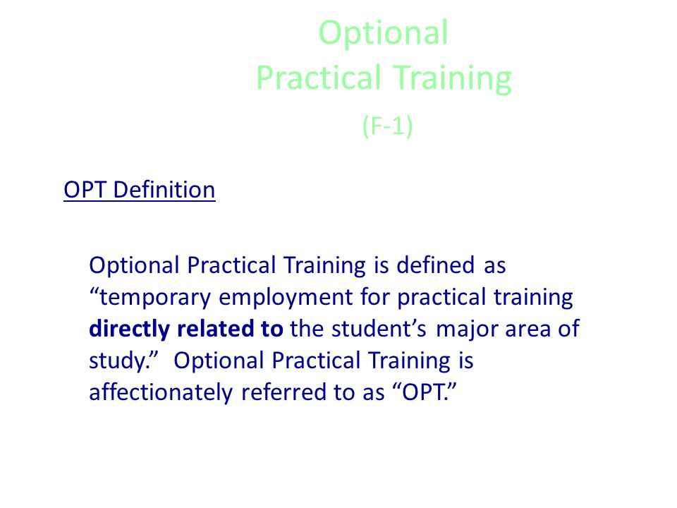 Curricular Practical Training What are the limitations.