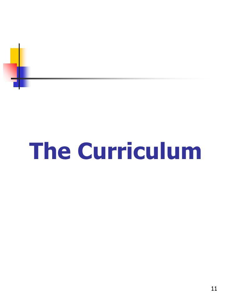 11 The Curriculum