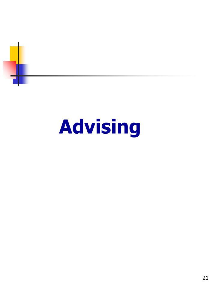 21 Advising