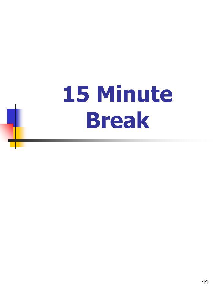 44 15 Minute Break