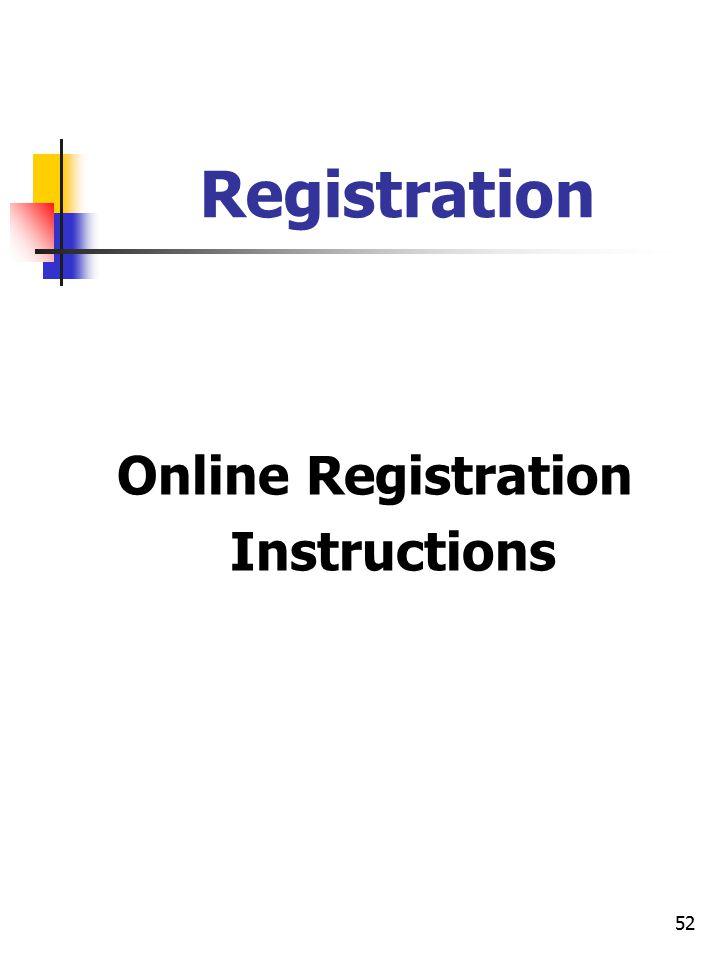 52 Registration Online Registration Instructions