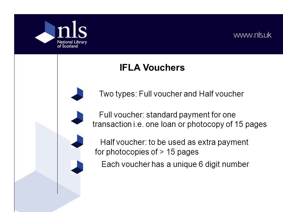 Full voucher: standard payment for one transaction i.e.