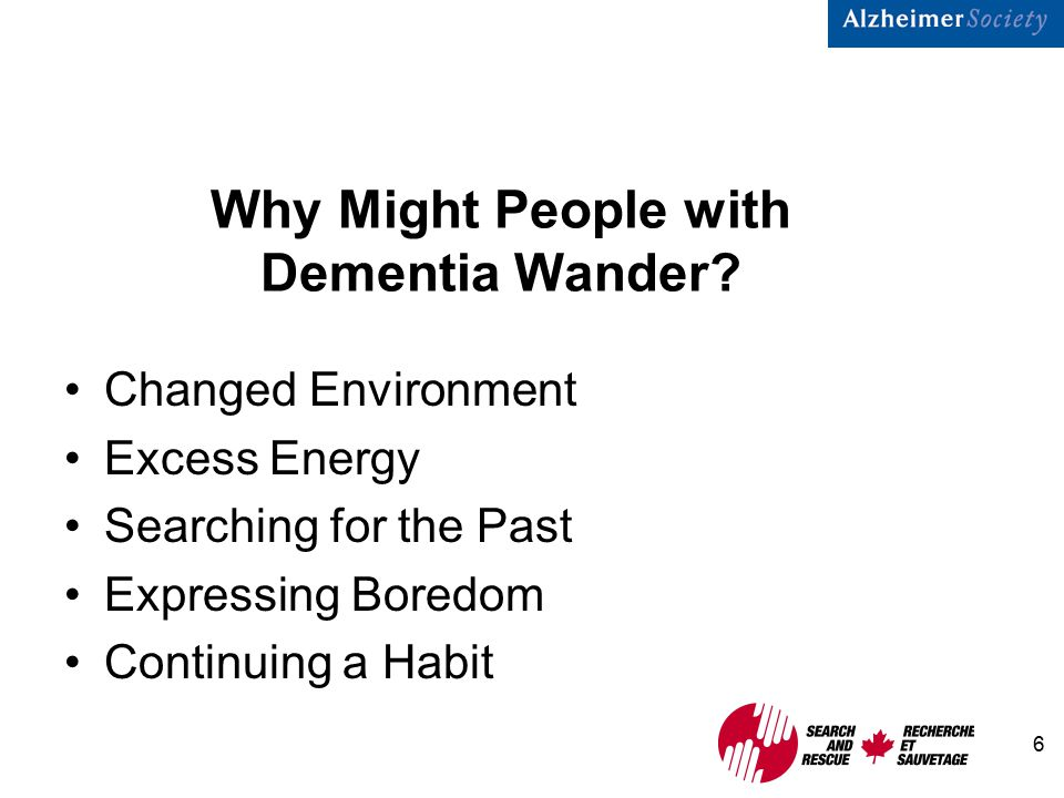 6 Why Might People with Dementia Wander.