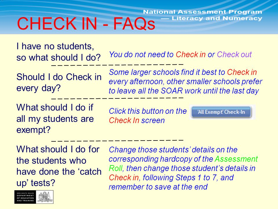 CHECK IN - FAQs I have no students, so what should I do.