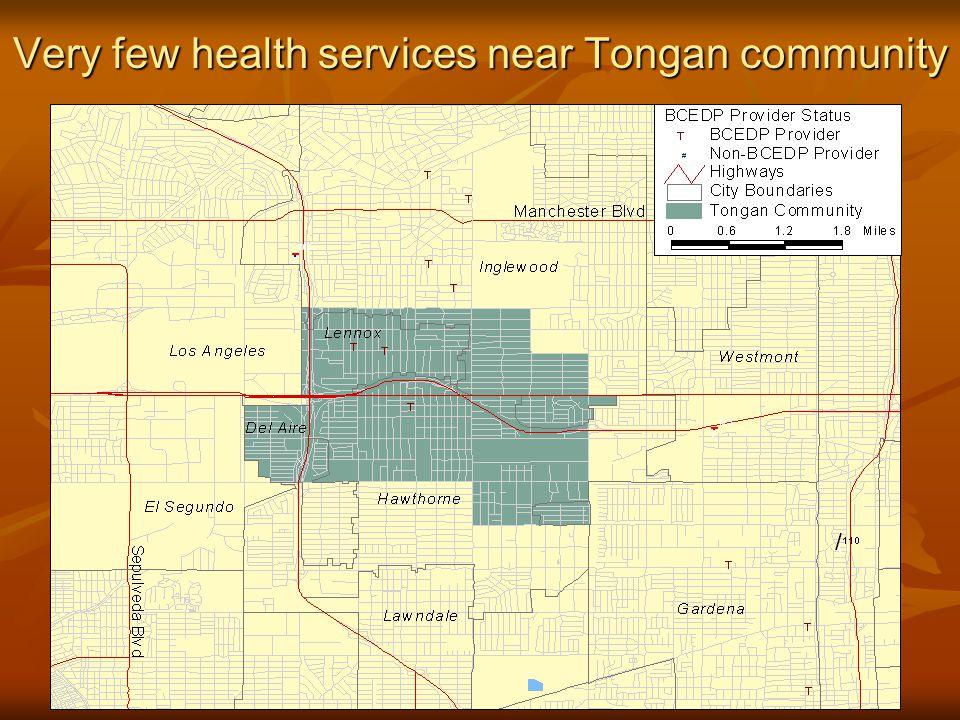 Very few health services near Tongan community