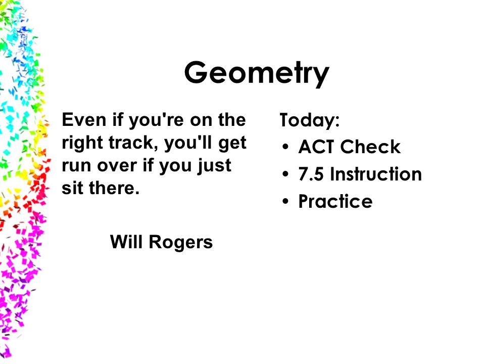 geometry today act check instruction practice even if you re  1 geometry