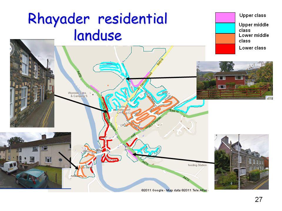 27 Rhayader residential landuse