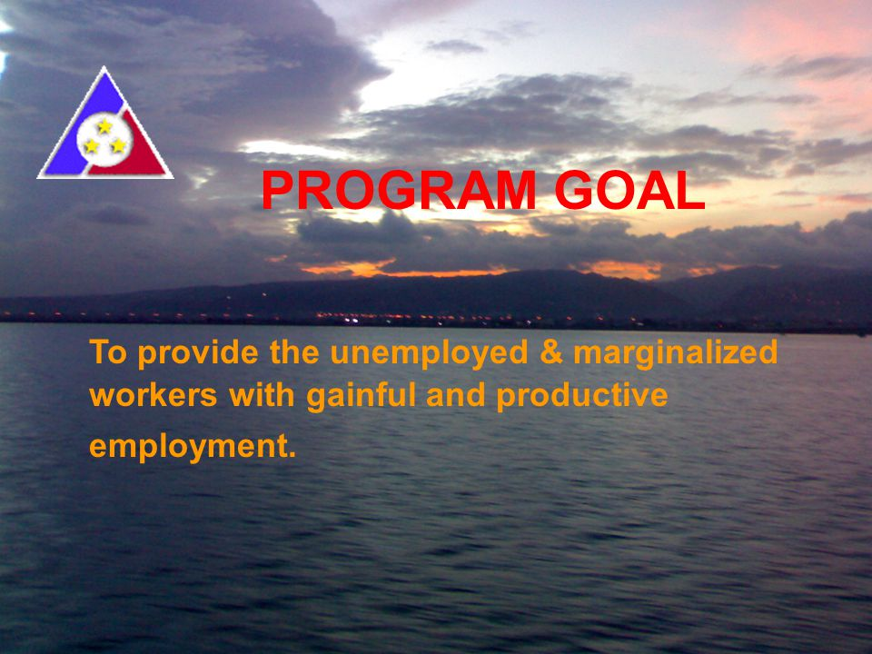 For Marginalized Workers in the Informal Economy DEPARTMENT OF LABOR AND EMPLOYMENT POVERTY ALLEVIATION PROGRAM