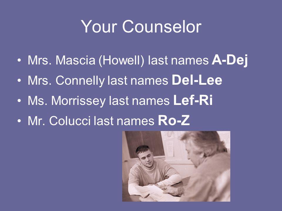 Your Senior Folder Informational Packet: Mrs.Mascia Transcript: Mrs.