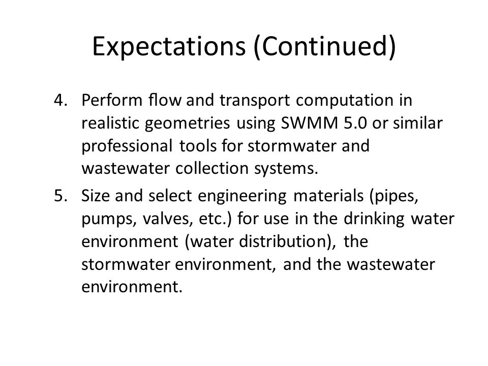 Water Use Systems Systems to manage spatial and temporal distribution in support of human habitation – Water supply/treatment/distribution – Waste water collection/treatment/discharge Capacity is based on POPULATION served – hydraulic dominated designs