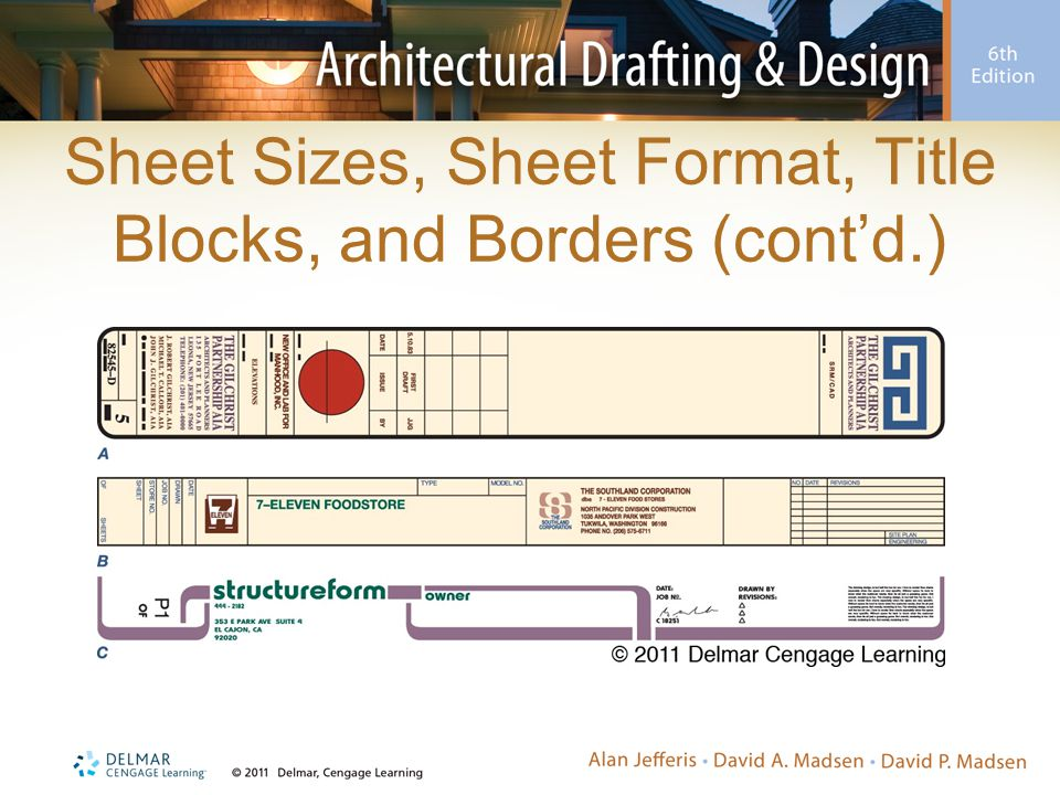 Sheet Sizes, Sheet Format, Title Blocks, and Borders (cont'd.)