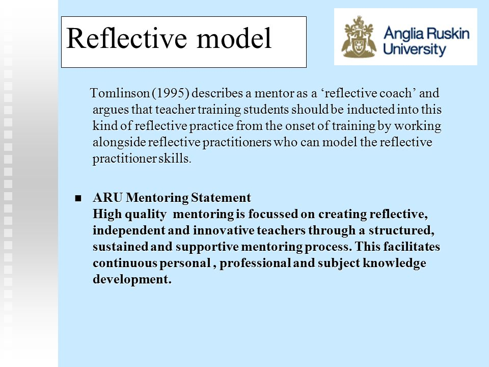 Models of mentoring TASK – Read the 11 statements and discuss how far you agree or disagree.