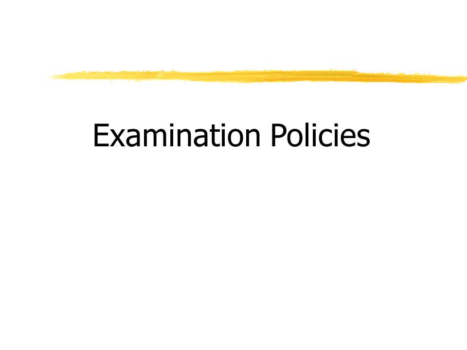 Examination Policies