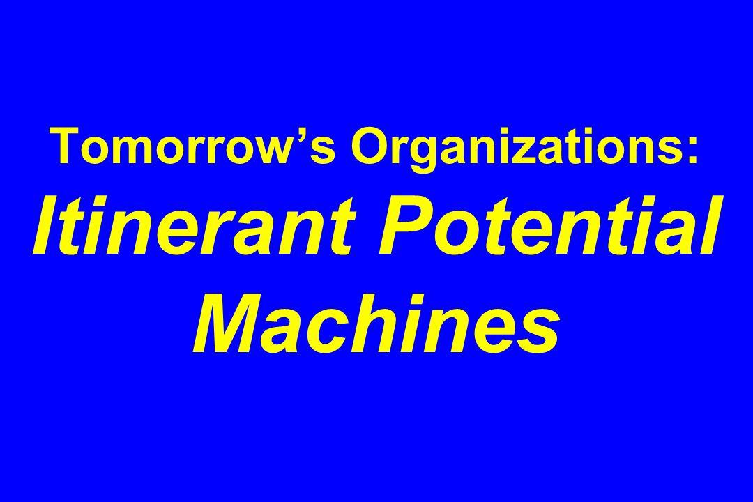 Tomorrow's Organizations: Itinerant Potential Machines