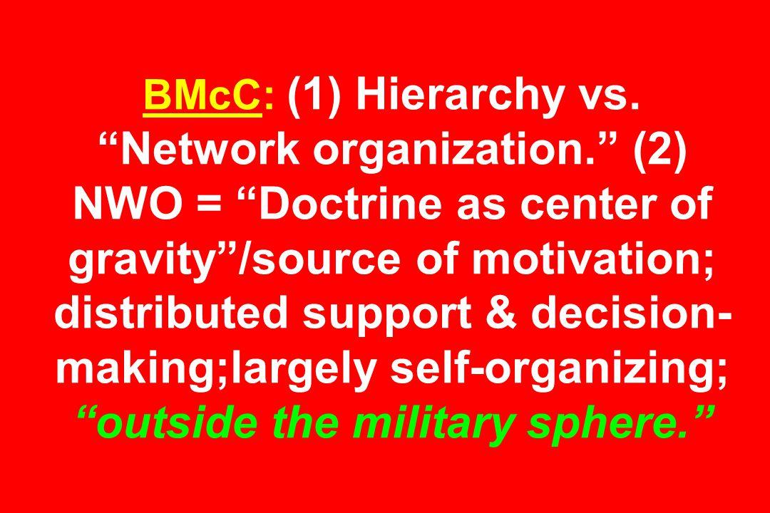 BMcC: (1) Hierarchy vs.