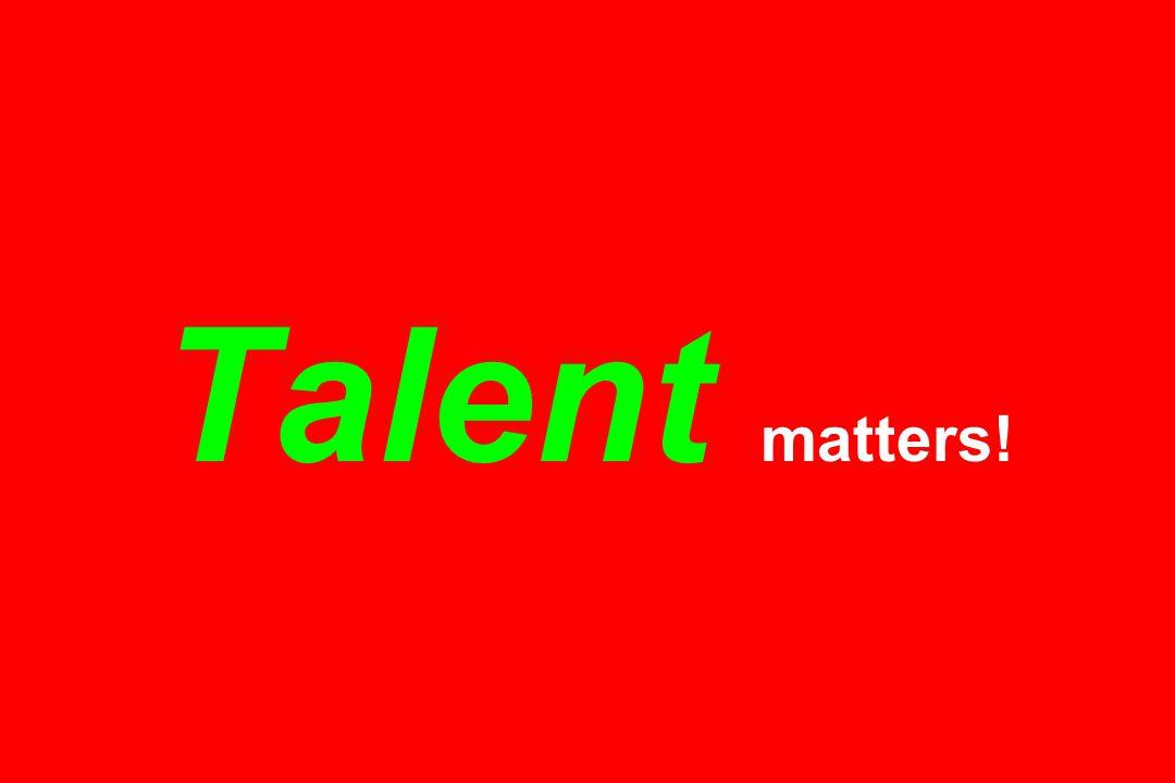 Talent matters!