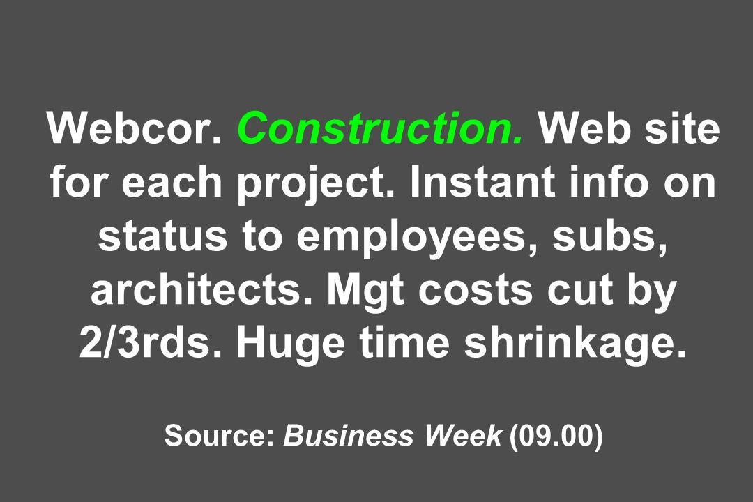Webcor. Construction. Web site for each project.