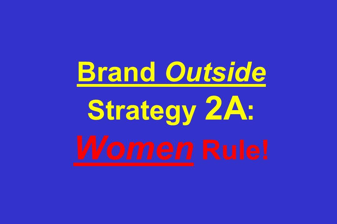 Brand Outside Strategy 2A : Women Rule!